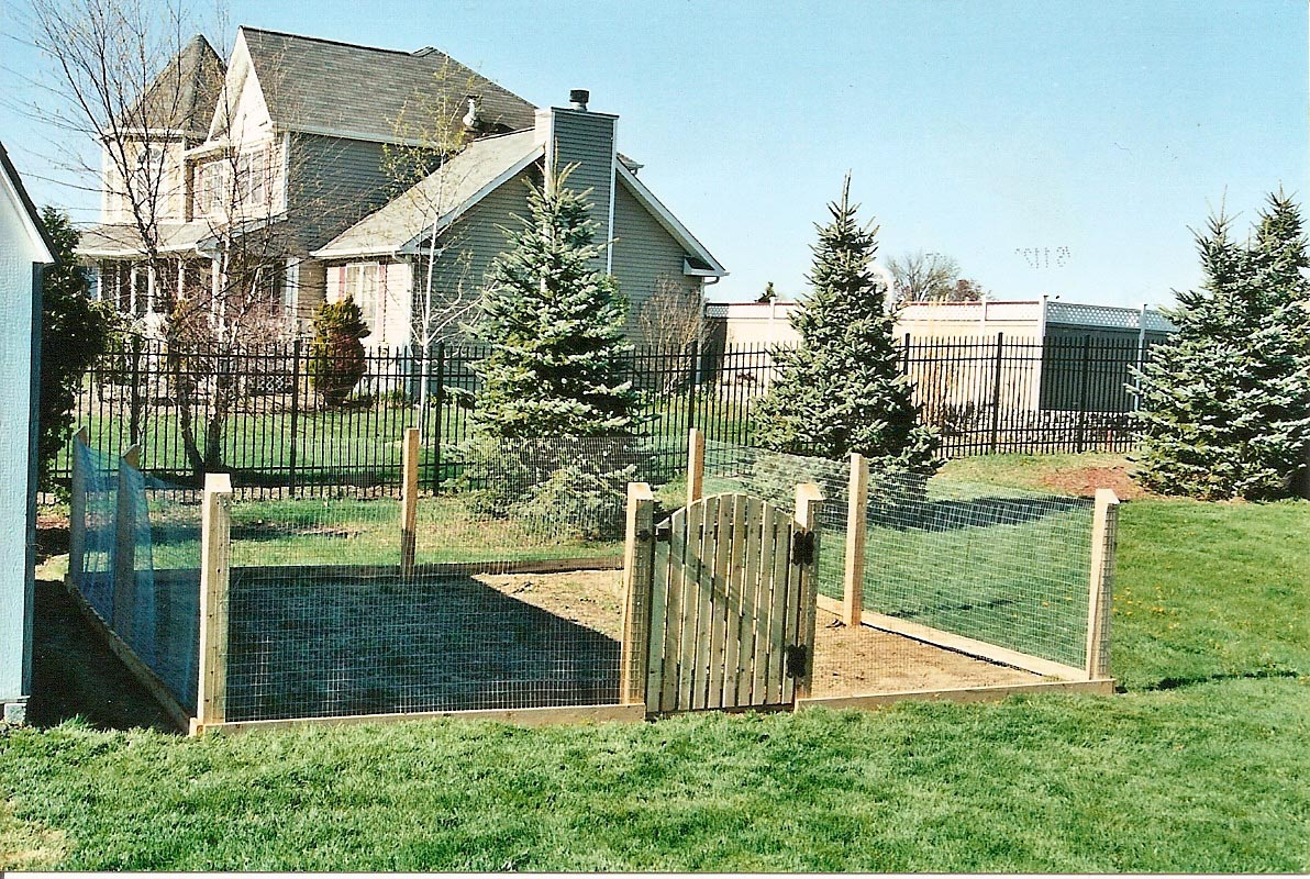 Decorative wire garden fencing design ideas