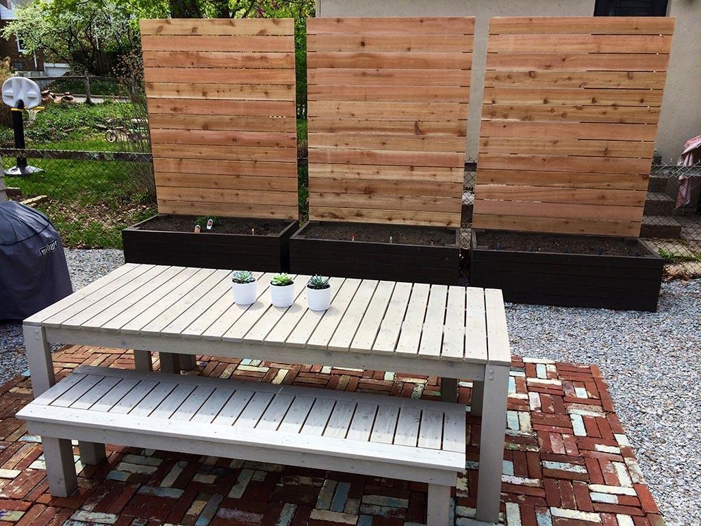 DIY Garden Privacy Screen