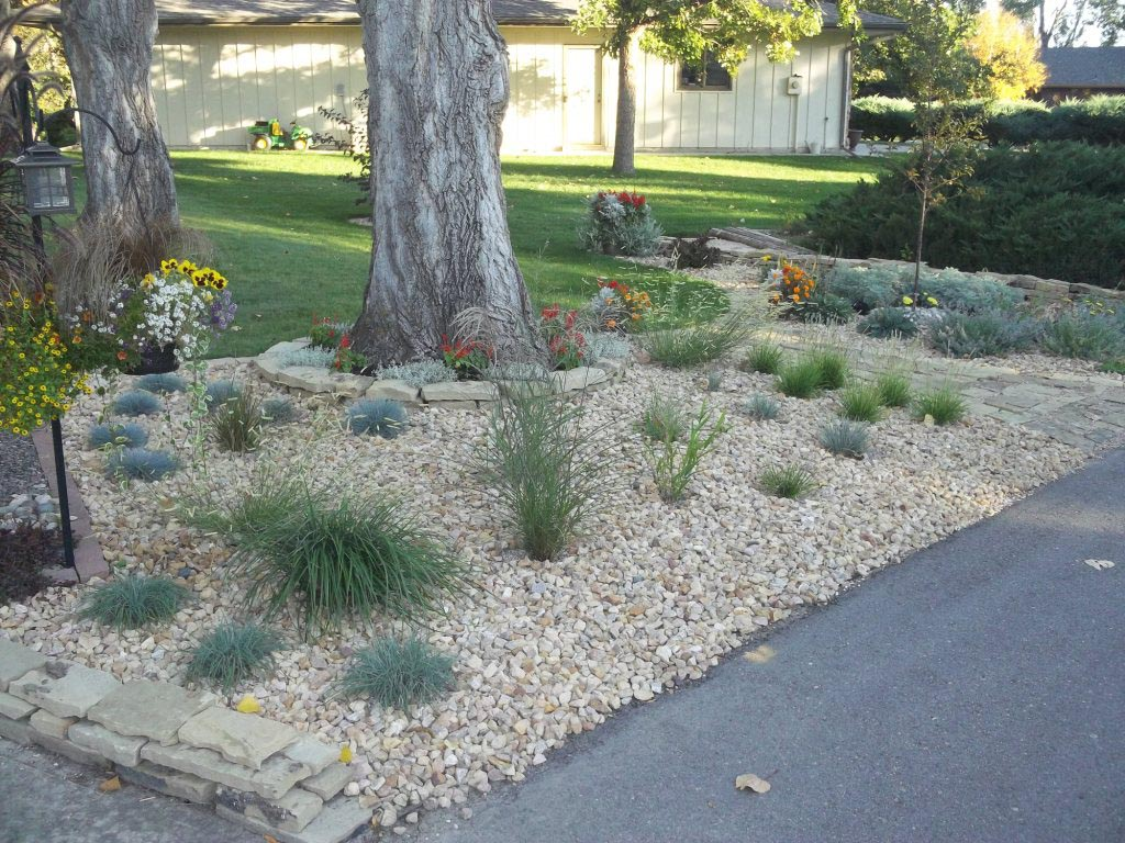 Front Yard Rock Garden