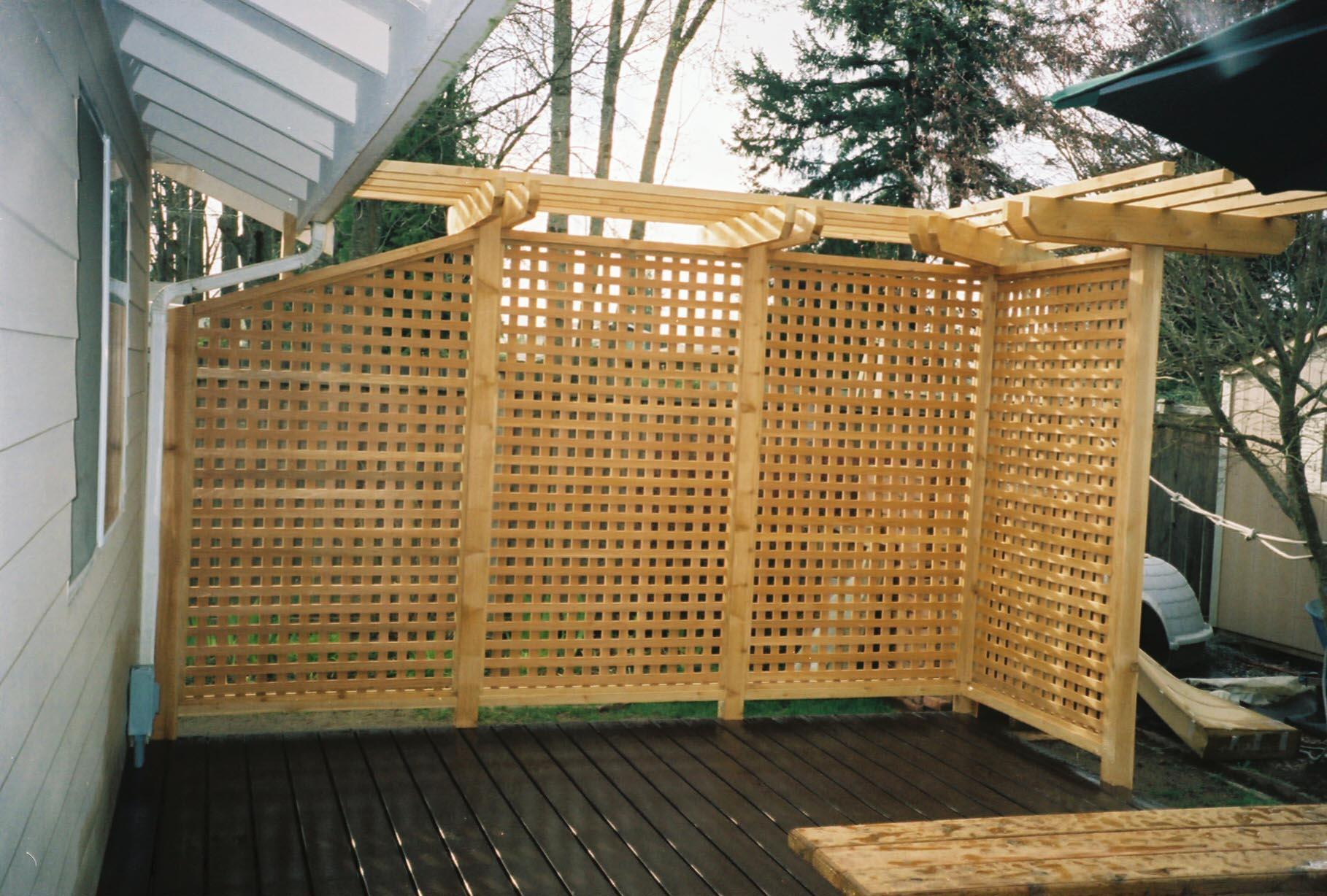 Garden Privacy Screen Plans