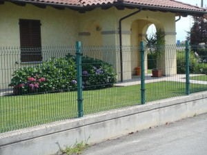 Green Wire Garden Fence