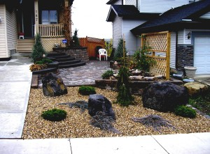 Rock Garden for Front Yard