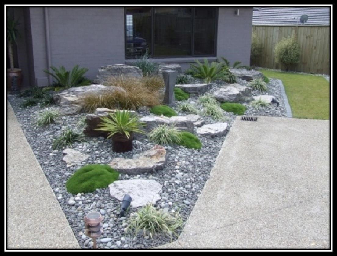 Rock Garden Ideas for Front Yard