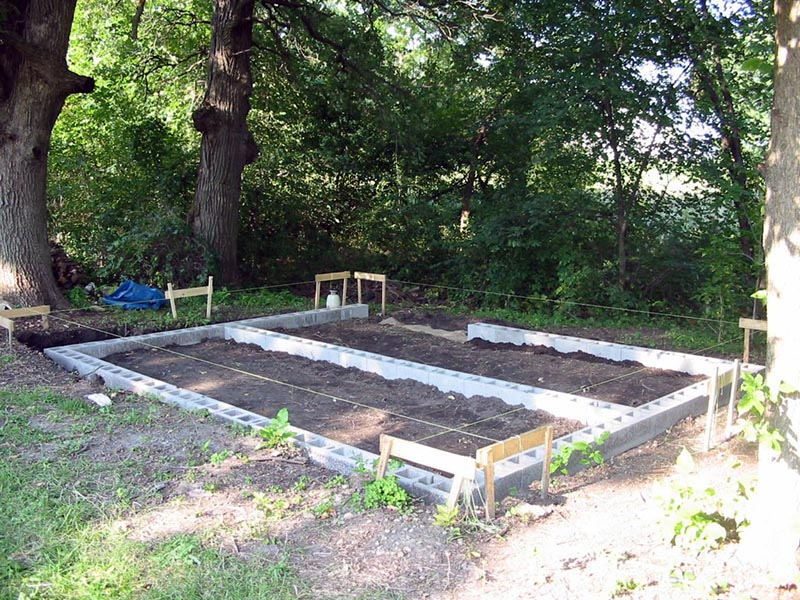 Small Garden Shed Foundation