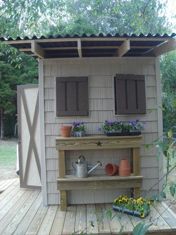 Small Garden Tool Shed Plans