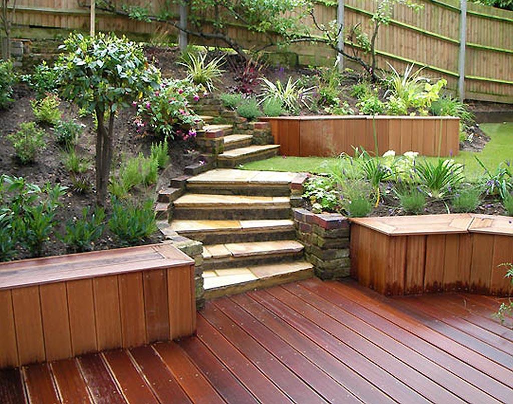 Small Wooden Garden Fence
