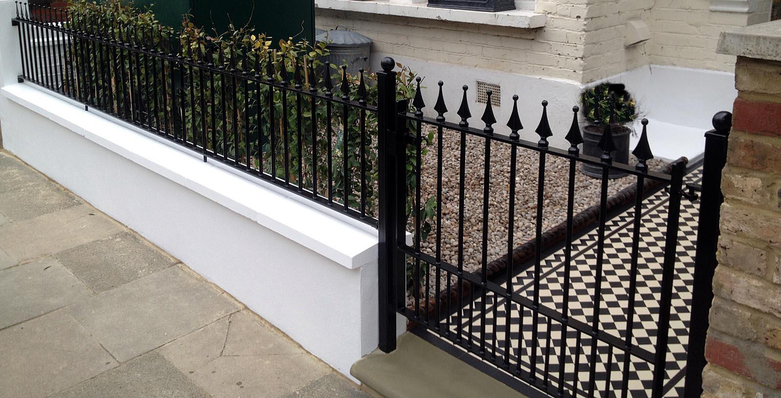 White Garden Border Fence