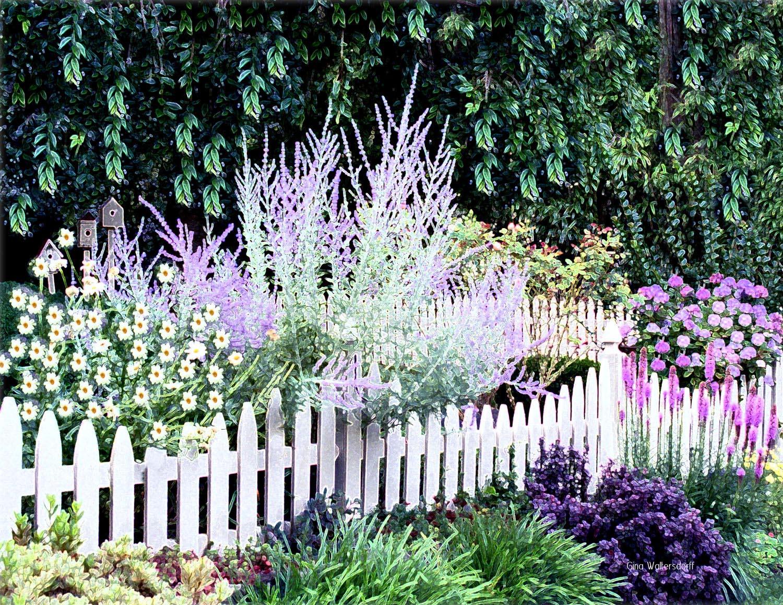White Garden Fence Border