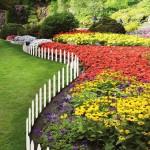White Picket Fence Garden Border