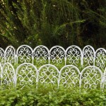 White Wire Garden Fence