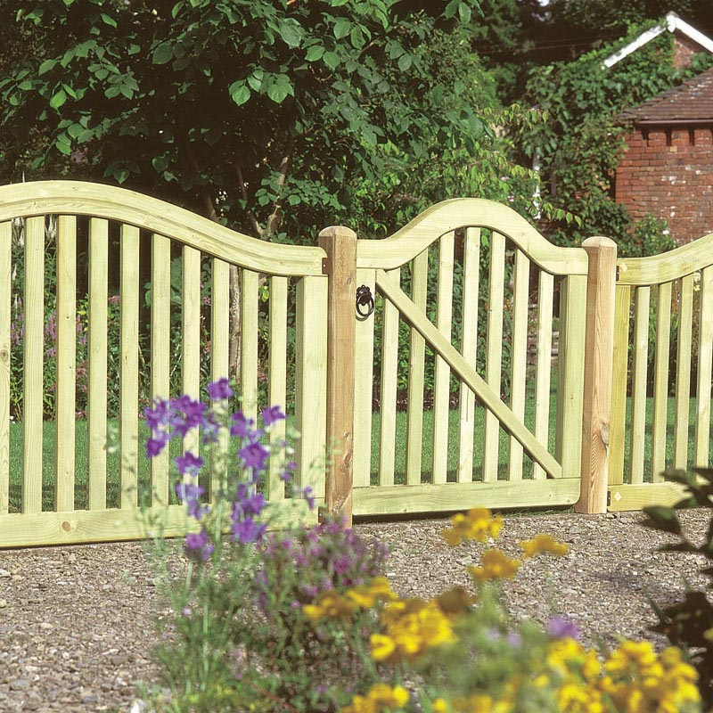Wood Garden Fence Kit