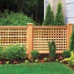 Wood Lattice Garden Fence