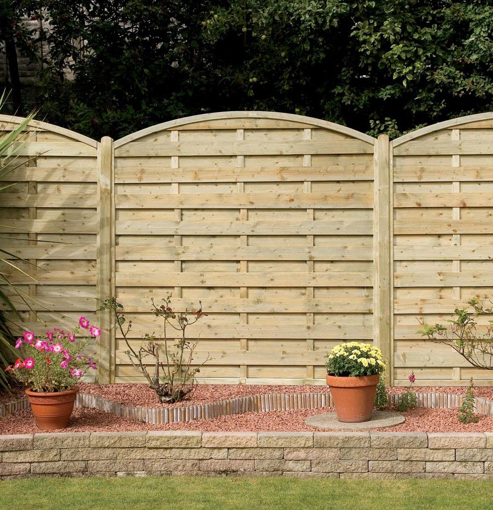 Wooden Garden Fence Panels