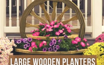 Crafting Large Wooden Planters