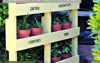 Variety of Pallet Herb Garden